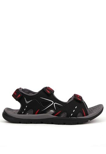 World Balance black Grand Canyon Mens Sports Sandals 615C7SH35CA266GS_1