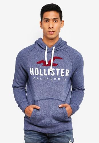 Hollister navy Iconic Tech Logo Hoody 3AC8DAA11FBCFAGS_1