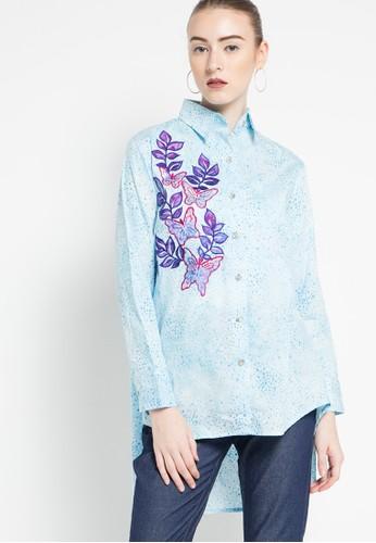 DEBRA LUNN blue Embroidery Acc Longsleeves Blouse DE879AA35TYUID_1
