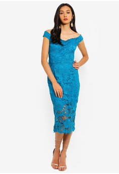 12c1053e81 40% OFF MISSGUIDED Tall Bardot Lace Midi Dress RM 209.00 NOW RM 124.90  Sizes 6 8 10 12 14