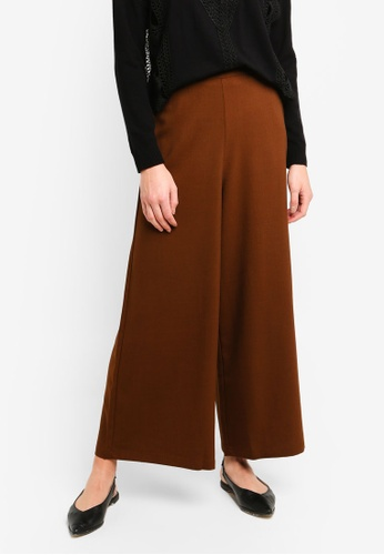 bYSI brown Classic Wide Leg Trousers FD287AAAEDB12BGS_1