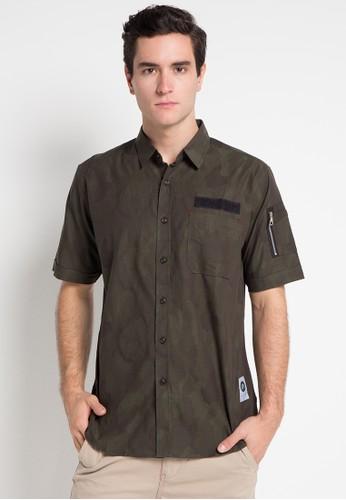 Asylum green Mens Shirt AS339AA0WSGFID_1