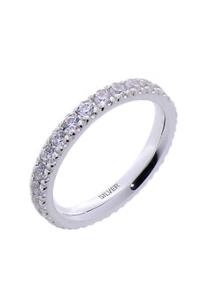 Full Eternity Silver Ring with Artificial Diamonds for Women lr0002f
