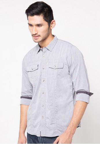 X8 grey Patrick Shirts X8323AA68IHFID_1