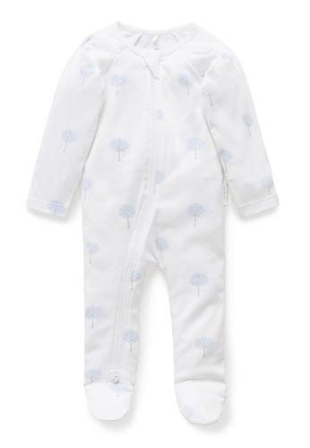 Purebaby blue Zip Growsuit 53F9FKAF50127FGS_1