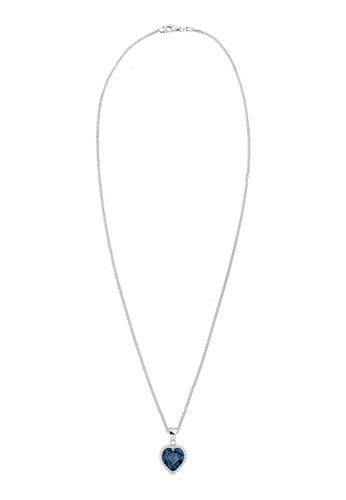 施華洛世奇水esprit hong kong晶仿鑽心型 925 銀項鍊, 飾品配件, 項鍊
