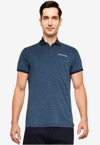 Hollister blue Athleisure Polo Shirt D0ECBAA83BEC98GS_1