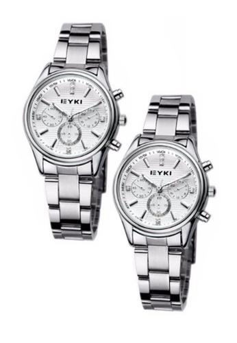 Eyki white and silver Bundle 2 Units EYKI EET8581 Ladies Stainless Steel Watch Silver White EY078AC0RR7EMY_1