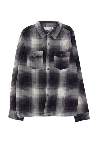 NAME IT blue Omok Long Sleeves Shirt C8075KA1FA88D4GS_1