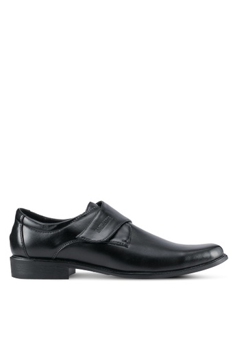 Rocklander black Textured Dress Shoes RO978SH0SMMFMY_1