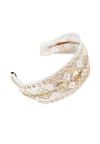 Kings Collection gold Bohemian Embroidered Headband (HA20066) 8B32AAC19DBE93GS_1