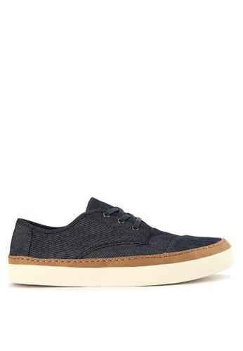 TOMS navy Navy Denim/Rand Men Paseo Sneakers TO159SH0VUXOID_1