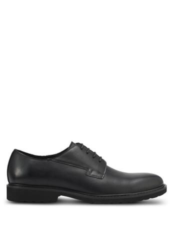 ZALORA black Faux Leather Brogue A96EASHF924B49GS_1