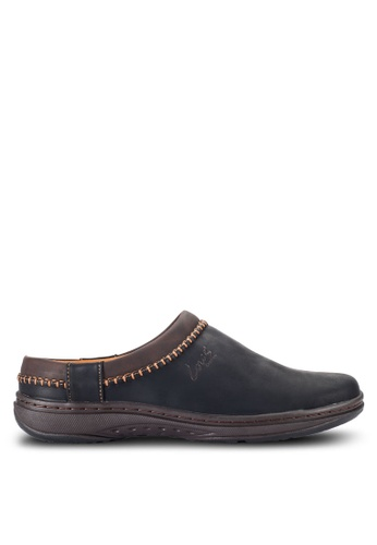 Louis Cuppers black Stitched Slip Ons LO977SH50RCJMY_1