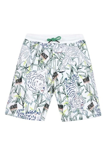 KENZO KIDS white and green and blue and multi KENZO BOYS BERMUDAS 839A2KAB6D69F7GS_1