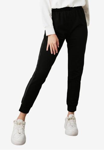 Trendyol black Velvet Basic Joggers 60971AA56E6350GS_1
