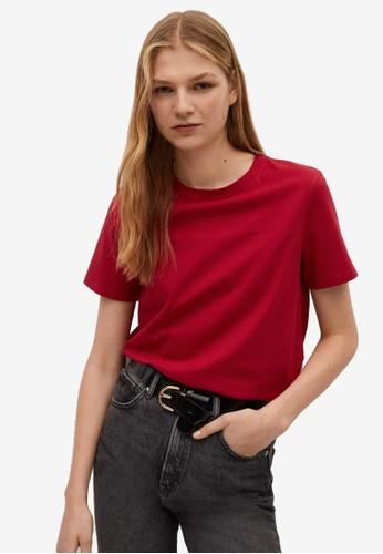 Mango red Organic Cotton T-Shirt 08697AAC714CC6GS_1