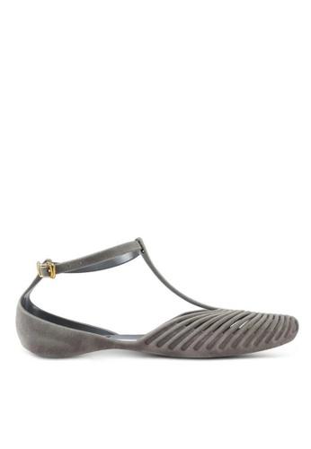 Twenty Eight Shoes grey Jelly Ankle Strap Ballet Flats 3003-1 D57DBSH5ECC096GS_1