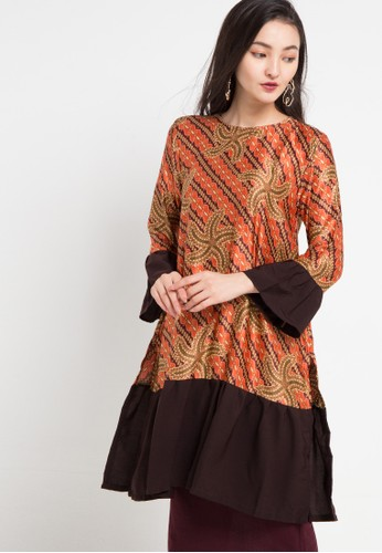 Anakara multi and brown Long Tunic Starline 67922AAB9DBF92GS_1