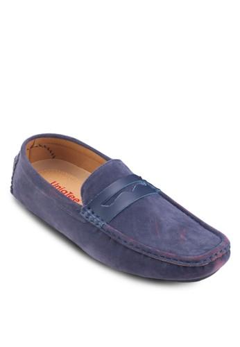 仿皮拼接麂皮船型鞋, 鞋, esprit門市船型鞋