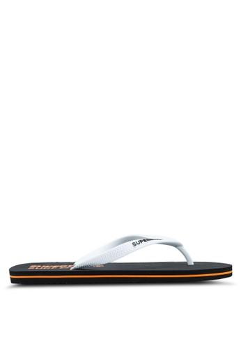 Superdry black and white Superdry Sleek Flip Flop 195F4SH291E1D9GS_1