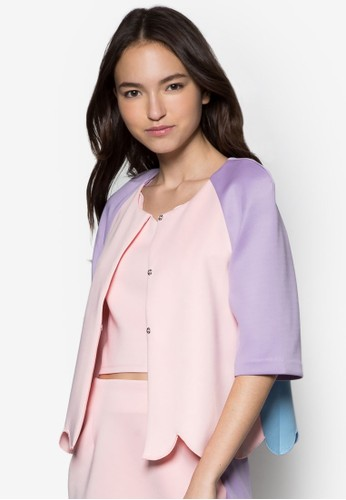 波浪下擺七分袖外套, 服飾esprit台灣網頁, 夾克 & 大衣
