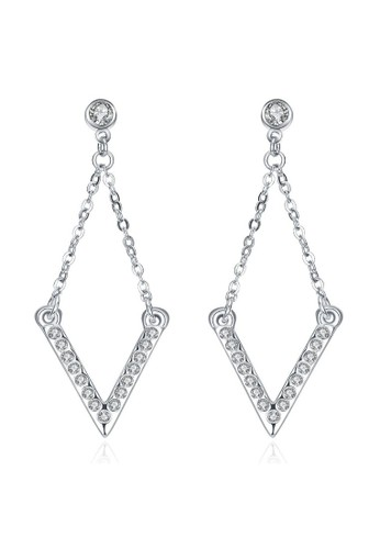 Tiaria white Tiaria Classic Square Ear Hook & Earrings White Gold Aksesoris Anting AKE093--K16 C9450ACDEE6BB7GS_1
