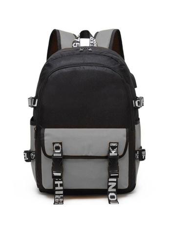 Twenty Eight Shoes grey VANSA Nylon Oxford Backpacks VAK-Bp9920 6F522KC1BE390CGS_1