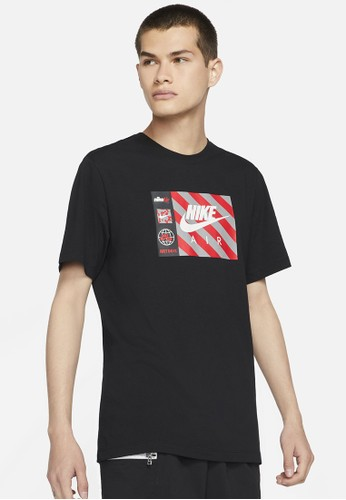Nike black As M Nsw Tee Swoosh By Air Hbr 2A245AA14A3F07GS_1