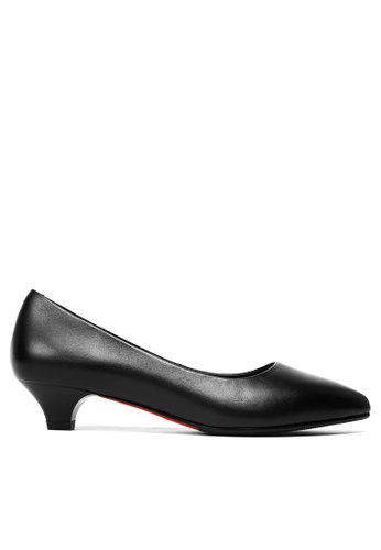 Twenty Eight Shoes black Leather Uniform Pointy Pumps 80A0BSHDE3A8AAGS_1