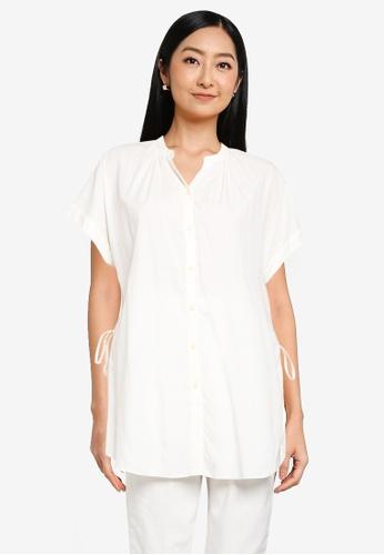 GLOBAL WORK white Side Ribbon Tunic 2189DAA603E513GS_1