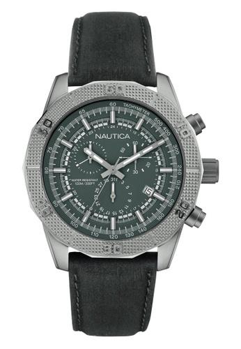NAUTICA grey Nautica Amazone NST 11 Grey Leather Strap NA146AC75OBCSG_1