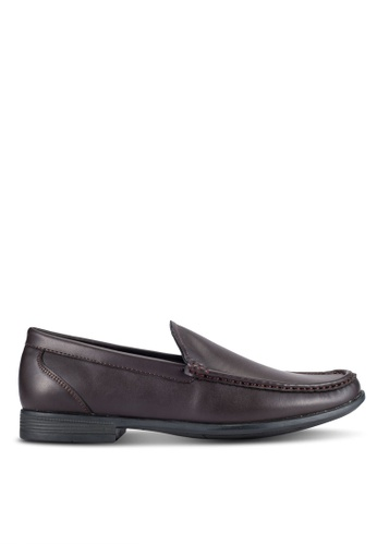 UniqTee brown Classic Moccasin Loafers UN097SH0RFVZMY_1