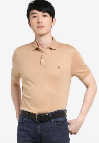 Polo Ralph Lauren beige Sskccmslmm1-Short Sleeve-Knit 0C5F3AA5533AE6GS_1