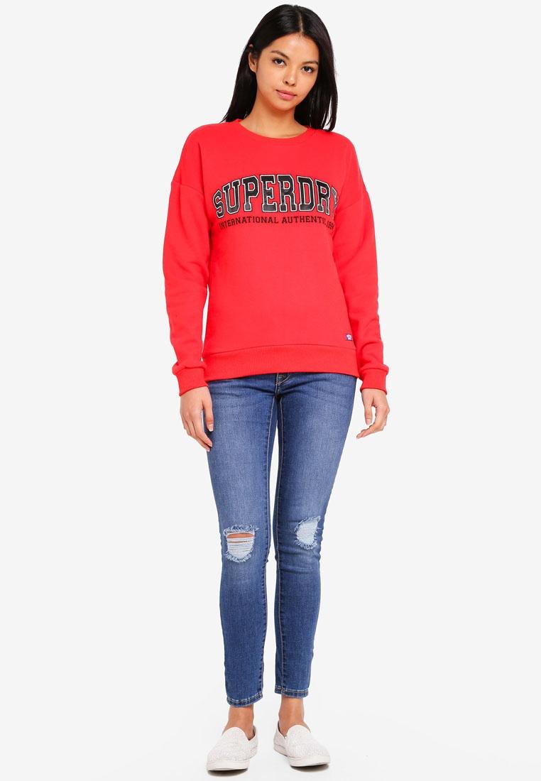 2b6d3b90bef2 Superdry Applique Primary Urban Red Street Sweatshirt Hpb8qxz 6ZagSFSqO