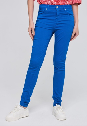 United Colors of Benetton blue Skinny Fit Pants 18A6EAA6EF69F1GS_1
