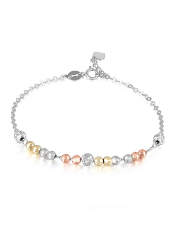 MaBelle gold 14K Rose, Yellow And White Gold Bracelet MA584AC39IGAHK_1