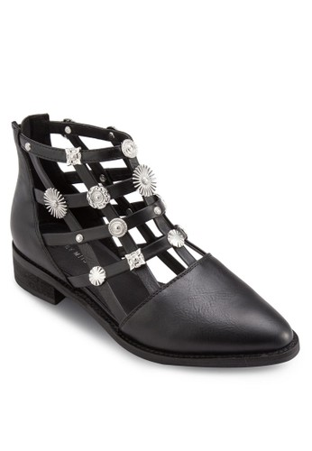 Raiesprit outlet台北n 造型鉚釘鏤空踝靴, 韓系時尚, 梳妝