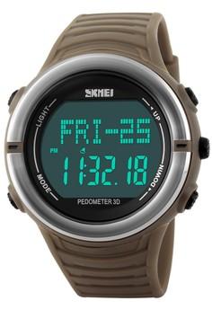 harga Skmei Heart Monitor - Jam Tangan Pria - Brown - Rubber Strap - 1111BRW Zalora.co.id