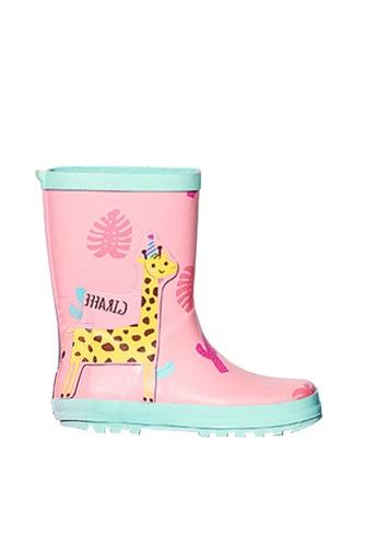 Twenty Eight Shoes pink VANSA Stylish Cartoon Mid Rain Boots VSK-R15284 77470KSB114F7AGS_1