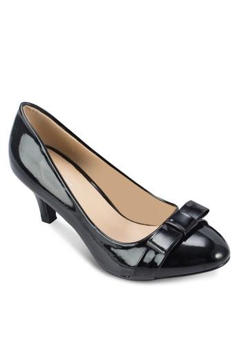 Carrie 蝴zalora 男鞋 評價蝶結漆面高跟鞋, 女鞋, 厚底高跟鞋