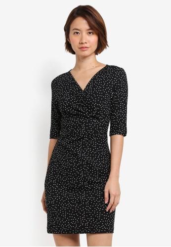 ZALORA black Draped Sheath Dress 103B5AAF875E67GS_1