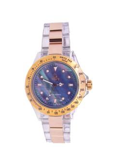 Sk3018rgbk Japan Design Unisex Steel Metal Plastic Watch Fashion Design