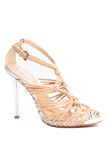 Covet beige Schutz Catarina Heeled Sandals CO331SH81GWKPH_1