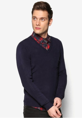 Basic V-Neck Sweater, 服飾zalora taiwan 時尚購物網, 服飾