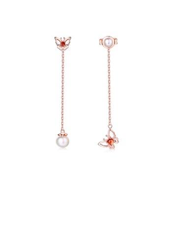 SUNSET 金色 Premium 925 Sliver Pearl Earring FB933ACA46093DGS_1