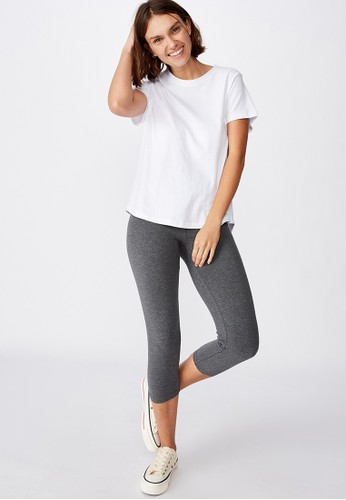 Cotton On grey 3/4 WAISTED DYLAN LEGGING A7D91AAAAB9496GS_1