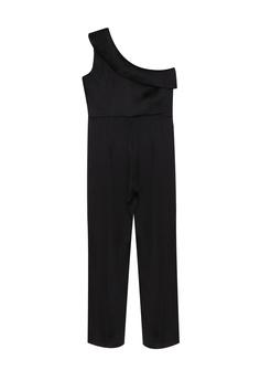 d0e0f5b766624 CLOSET black Gold One-Shoulder Jumpsuit E3079AACA17970GS 1