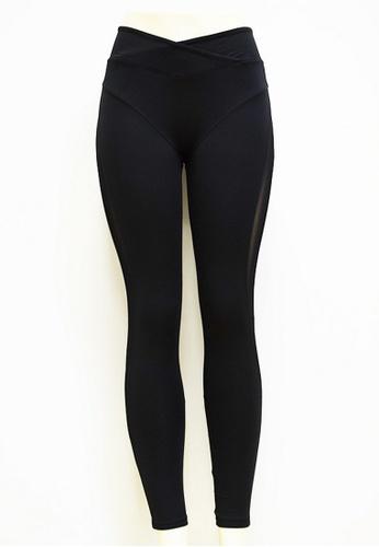 LYCKA black LYCKA-BYG8050 Lady Quick Drying Running Fitness Yoga Sports Leggings -Black 68A8DAA5BE8A36GS_1