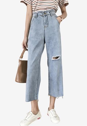 Lara blue Women High Rise Cropped Jeans D394BAA6EFF892GS_1